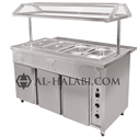 Bain-marie (with Hot Cabinet, Sneeze Guard & Tray Rail)